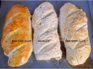 Baked french bread with glaze descriptions