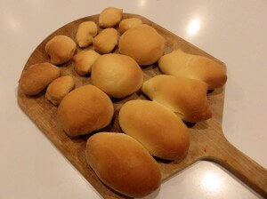 baked rolls and buns