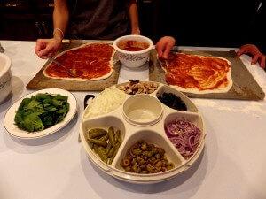 PREP - pizza 3 - spreading the sauce