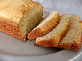 5 - pound cake sliced - small