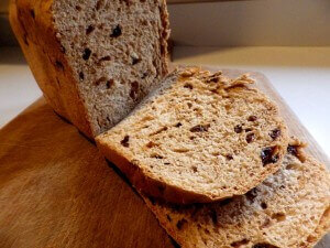 Rapid Rise Raisin bread - sliced