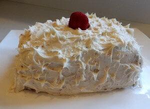 red velvet cake frosted
