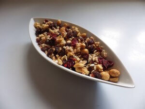 1 - trail mix in bowl