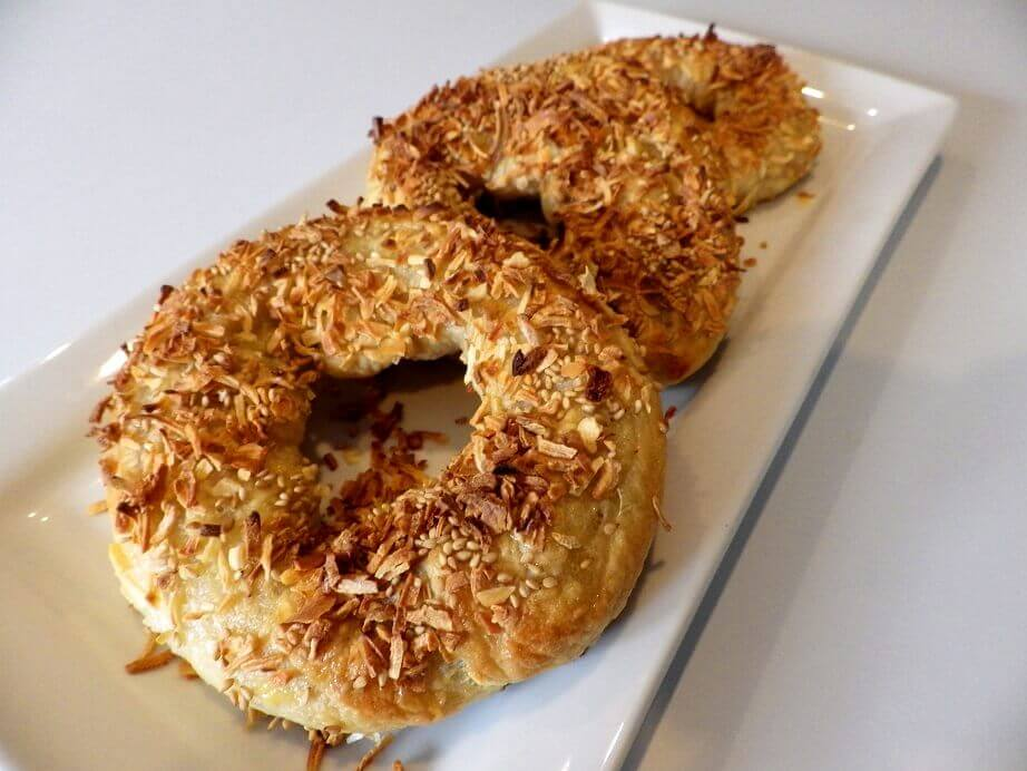 23 - sesame onion bagels