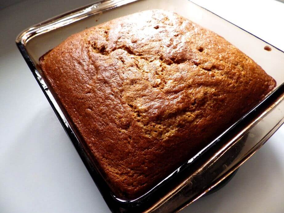 4a - alternate spiced pumpkin bread in baking dish - hero   shot