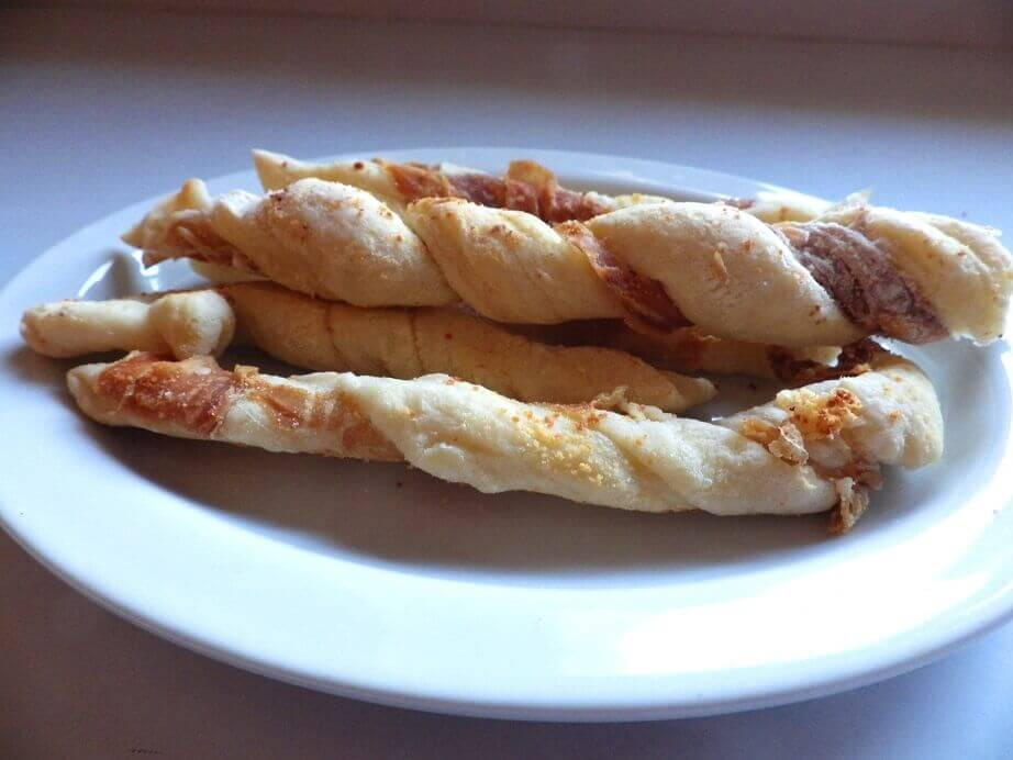 7 breadstick prosciutto twisted style