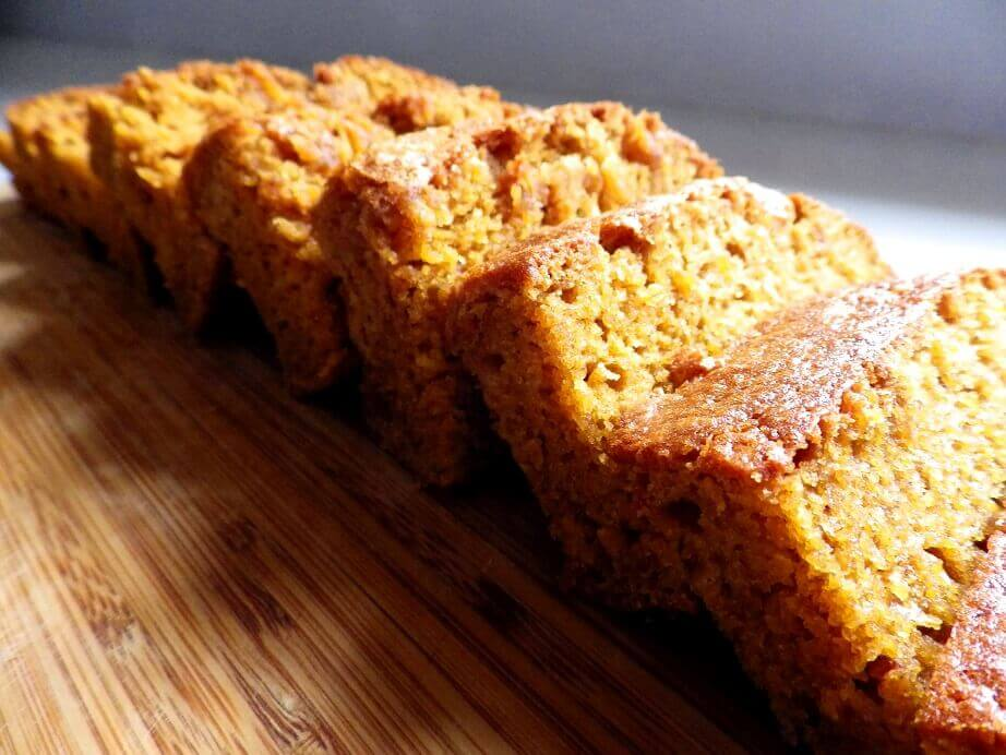 7 - sliced and spiced pumkin bread on plate - hero  shot