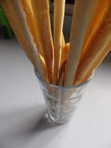 7 - thin Italian breadstick style in a tumbler