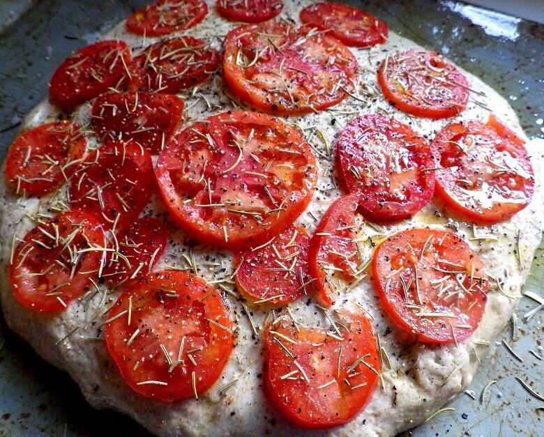 Tomato Rosemary Focaccia Bread Recipe