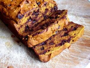 5 - sliced pumpkin chocolate chip bread