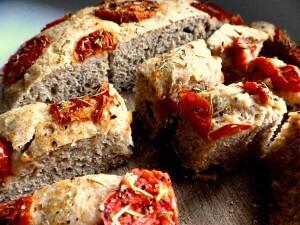 5 - tomato focaccia sliced