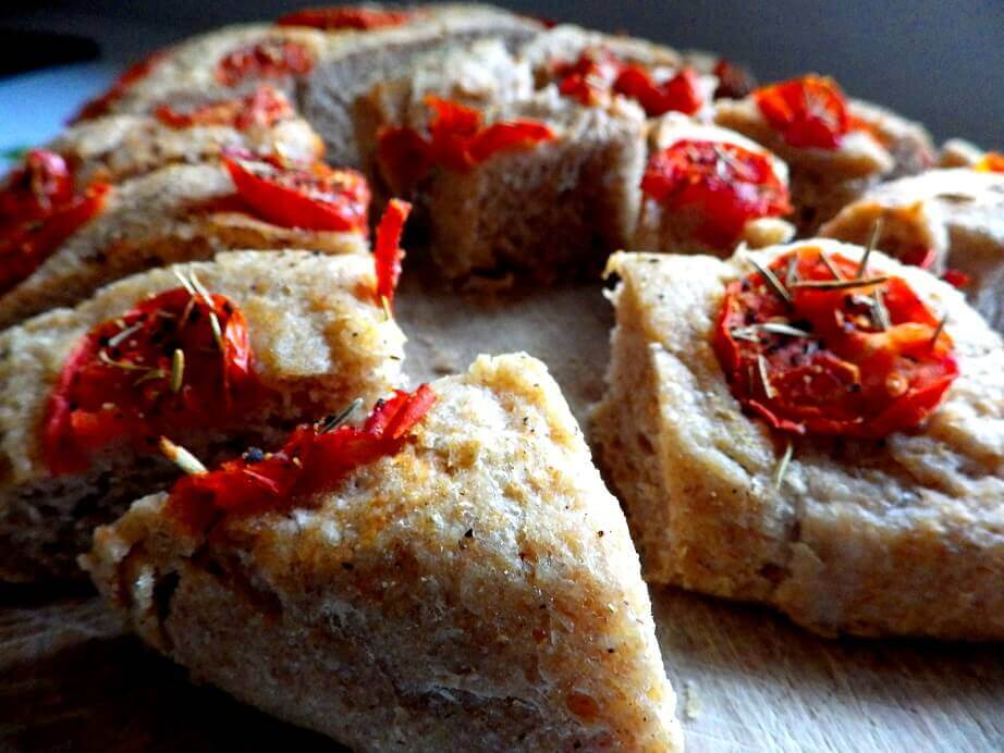 6 - tomato focaccian sliced