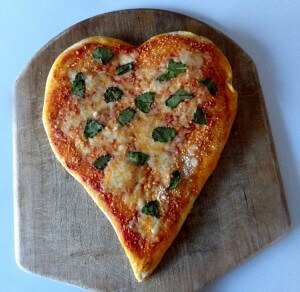 10 - heart shaped pizza
