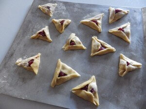 14 - Jelly Hamantaschen ready for over