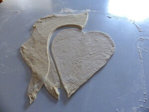 4 - heart pizza unfolded