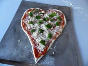 7 - heart pizza ready for oven