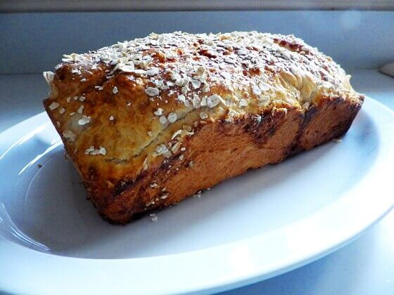 oatmeal bread loaf 2