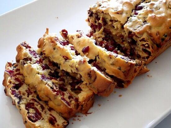 3 Cranberry bread - sliced