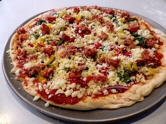 4 - gluten free pizza ready for the oven - small