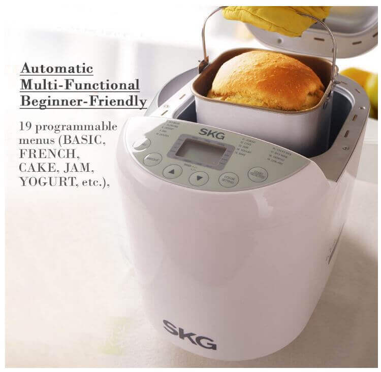 SKG Automatic 2-Pound Bread Maker-2