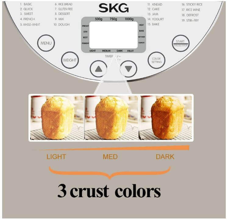 SKG Automatic 2-Pound Bread Maker-4